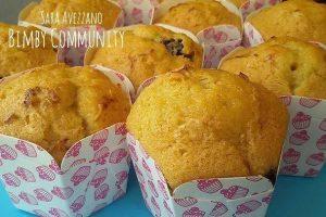 Muffin all'Acqua variegati ai Frutti di Bosco