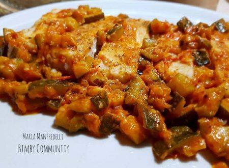 Filetti di Merluzzo con Zucchine e Pomodorini al Varoma