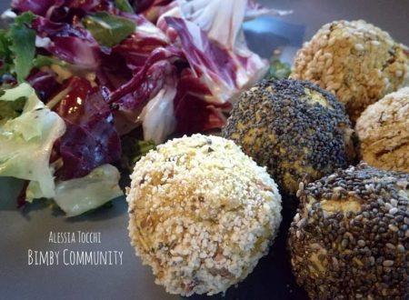 Polpette vegetariane con Fagioli Curcuma e Rosmarino
